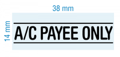 customized stamp - AC PAYEE ONLY - stock 2021