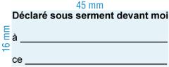 Etampe personnalisée Commissaire à l'assermentation Français