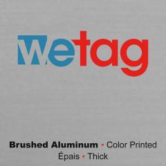metal printed brushed aluminum Wetag